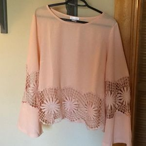Beautiful peach blouse!